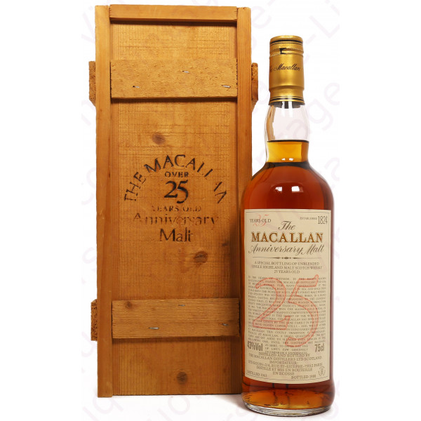 The Macallan 1963 Anniversary Malt 25 Year Old