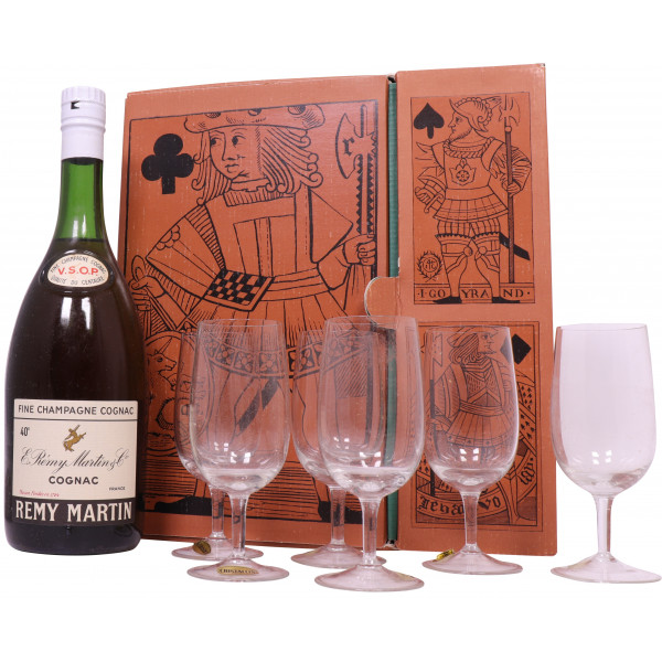 Rémy Martin VSOP 1960's  gift box with glasses