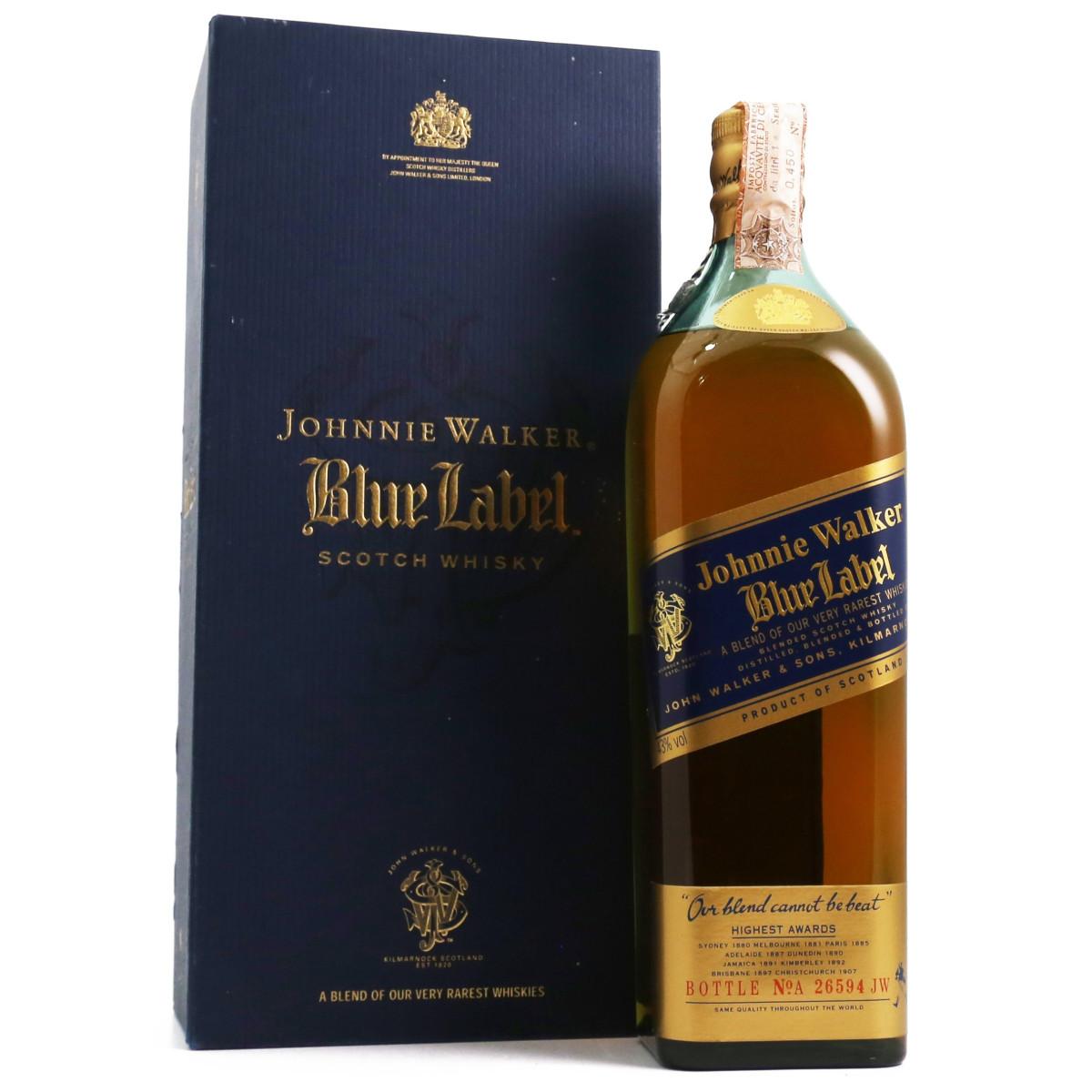 johnnie walker blue label 1980 39 s 1l vintage liquors. Black Bedroom Furniture Sets. Home Design Ideas