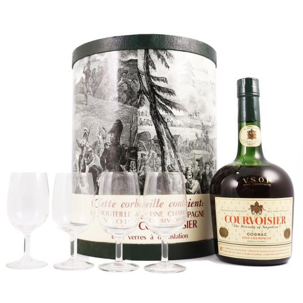 Courvoisier VSOP Tambour 4 verres
